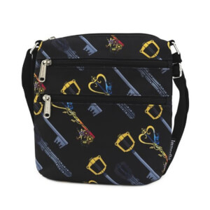 Loungefly Kingdom Hearts Keys AOP Nylon Passport Bag