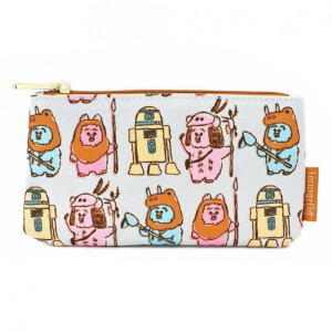 Loungefly Star Wars Pastel Ewok AOP Nylon Pouch