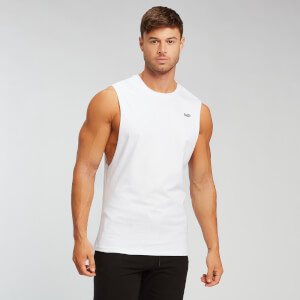 MP Essentials Drop Armhole Tank - White