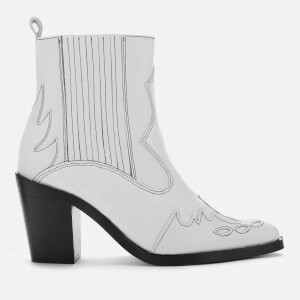Kurt Geiger London Women's Damen Leather Western Style Boots - White