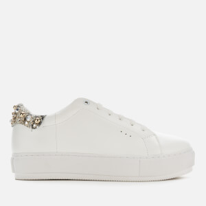 Kurt Geiger London Women's Laney Stud Leather Flatform Trainers - White