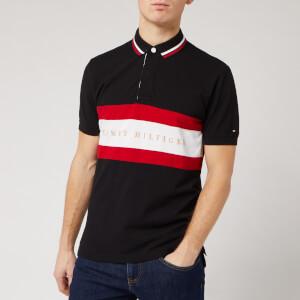 Tommy Hilfiger Men's Chest Stripe Polo Shirt - Black