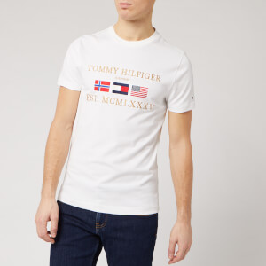 Tommy Hilfiger Men's Three Flags T-Shirt - White