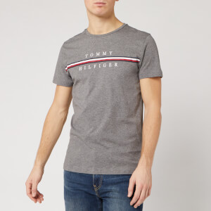 Tommy Hilfiger Men's Split Logo T-Shirt - Silver Fog Heather