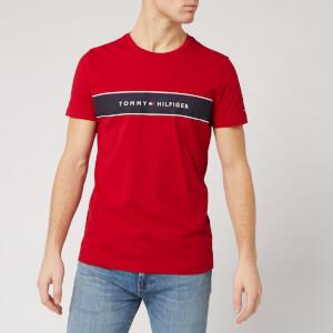 Tommy Hilfiger Men's Chest Logo T-Shirt - Red