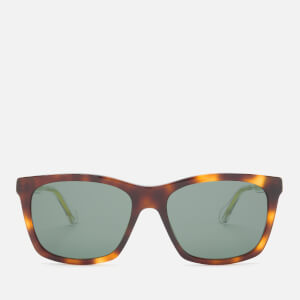 Gucci Men's Acetate Square Frame Sunglasses - Havana/Crystal/Green