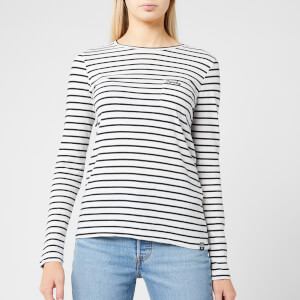Superdry Women's Ol Essential Long Sleeve Top - Off White Stripe