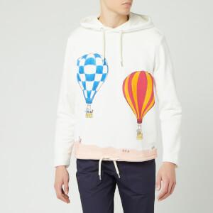 Lanvin Men's Babar Balloons Print Hoodie - White