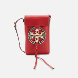Tory Burch Women's Miller Stained Glass Phone Cross Body Bag - Red Apple