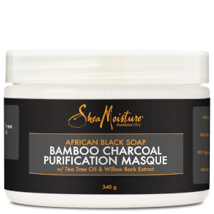 Shea Moisture African Black Soap Bamboo Charcoal Masque 354ml - Exclusive
