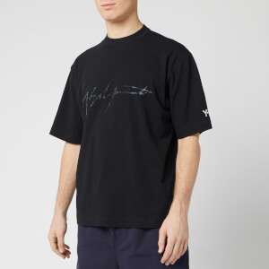 Y-3 Men's Distressed Signature Short Sleeve T-Shirt - Black