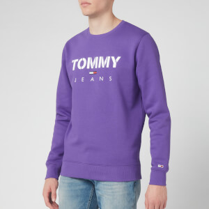 Tommy Jeans Men's Novel Logo Sweatshirt - Royal Purple