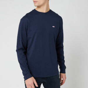Tommy Jeans Men's Long Sleeve T-Shirt - Black Iris
