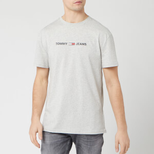 Tommy Jeans Men's Straight Small Logo T-Shirt - Light Grey Heather
