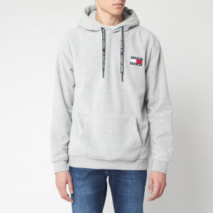 Tommy Jeans Men's Polar Fleece Badge Hoodie - Light Grey Heather