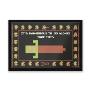 Paillasson It's Dangerous To Go Alone Nintendo