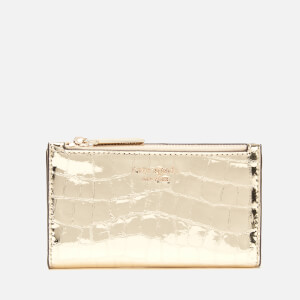 Kate Spade New York Women's Sylvia Croc Small Wallet - Gold