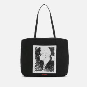 Karl Lagerfeld Legend Collection Women's Karl Legend Canvas Tote Bag - Black