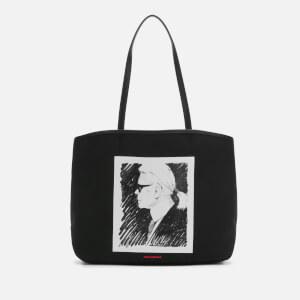 Karl Lagerfeld Legend Collection Women's Karl Legend Canvas Tote Bag - Black