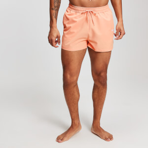 MP Men's Contrast Stitch Swim Shorts - Orange