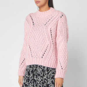 Stine Goya Women's Alex Fluffy Knitted Jumper - Pink