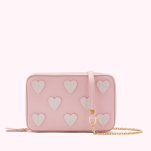 Lulu Guinness Women's Medium Hearts Lydia Cross Body - Blossom