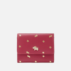 Radley Women's Ditsy Dog Foil Small Trifold Purse - Raspberry