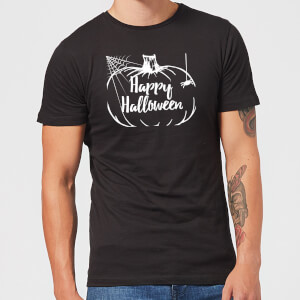 Happy Halloween Pumpkin Men's T-Shirt - Black