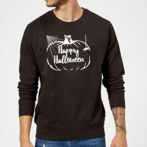 Happy Halloween Pumpkin Sweatshirt - Black