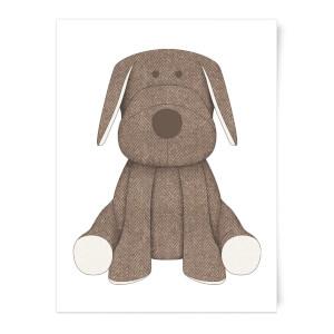Brown Dog Teddy Art Print