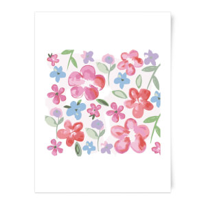 Spring Pansy Flower Bed Art Print