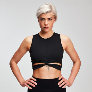 Crop top Power femme MP - Noir