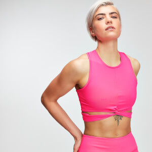 Power Crop Top - Ružový