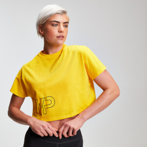 T-shirt MP Power Cropped da donna - Giallo buttercup