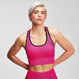 MP Women's Contrast Seamless Sports Bra - Super Pink