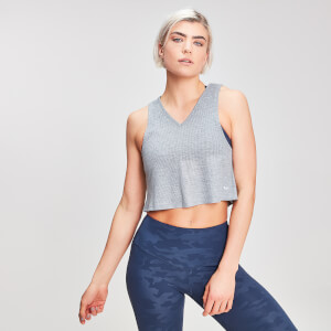 MP Women's Rest Day Cropped Vest - Grey Marl