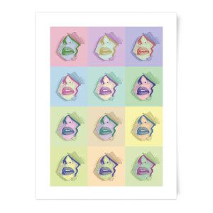 Multi Colour Sexy Lips Break Through Art Print