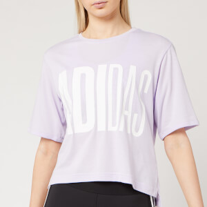 adidas Women's Univ Short Sleeve T-Shirt - Purple Tint