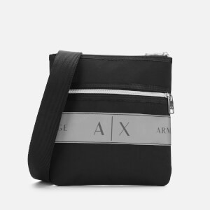 Armani Exchange Men's Small Flat Cross Body Bag - Nero