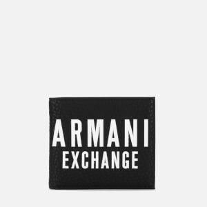 Armani Exchange Men's Bifold Wallet with Credit Card Holder - Nero