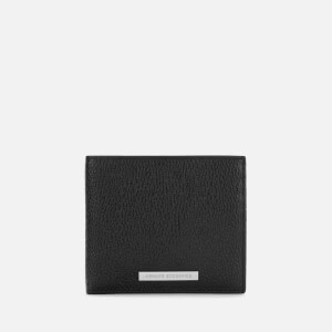 Armani Exchange Men's Bifold Wallet with Coin Compartment - Nero