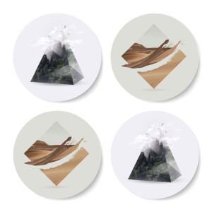 Geometric Nature Coasters Coaster Set