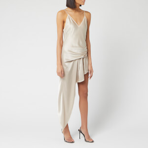 Alexander Wang Women's Exposed Leg Cami Dress with Lace - Champagne