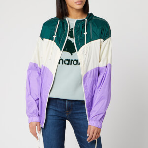 Isabel Marant Étoile Women's Kyriel Raincoat - Green/Violet