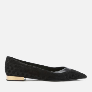 Balmain Women's Pola-All Over Monogram Flat Shoes - Black