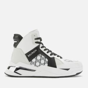 Balmain Women's B-Ball & All Over Mono High Top Trainers - White/Black