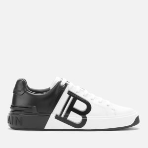 Balmain Women's B-Court Low Top Trainers - White/Black
