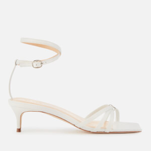 by FAR Women's Kaia Leather Kitten Heels - White