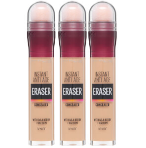 Maybelline Instant Anti-Age Eraser Eye Concealer 3 Pack Exclusive (Worth £26.97)