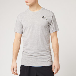 Reebok Men's Speedwick Graphic Short Sleeve T-Shirt - Medium Grey Heather